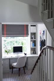 Office Design Ideas For Small Spaces Small Office Space With Desk On Stair Landing Small Spaces Ideas