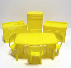 Yellow Kitchen Sink Mpc Yellow Kitchen Set Dollhouse Furniture Vintage 1960s Plastic