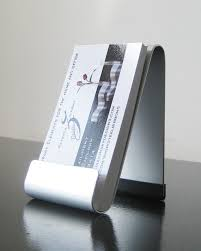 Modern Business Card Case Modern Metal Easel Style Vertical Business Card Holder