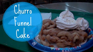churro funnel cake disneyland youtube