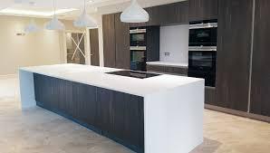 install kitchen islands with breakfast bar white corian worktop in mancester breakfast bar and island