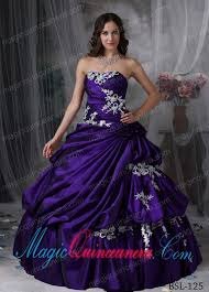 a beautiful ball gown strapless with taffeta appliques discount