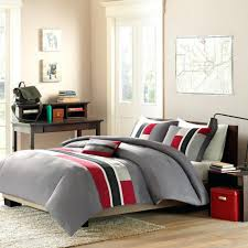 Red And Grey Comforter Sets Articles With Black And Red Checkered Bedding Tag Impressive Red