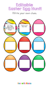 easter scavenger hunt editable easter egg scavenger hunt fun with mama
