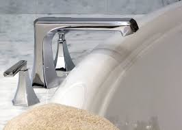 deck mount tub filler faucets