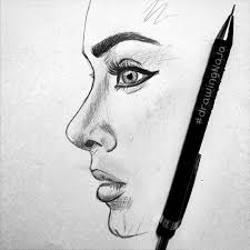 pictures side face pencil sketch drawing art gallery