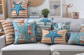 Modern Nautical Throw Pillow For Living Room Anchor Decorative - Decorative pillows living room