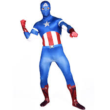 Body Halloween Costumes Adults Aliexpress Buy Captain America Costume Blue