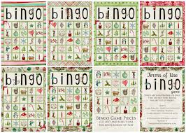 christmas bingo printables u2013 happy holidays