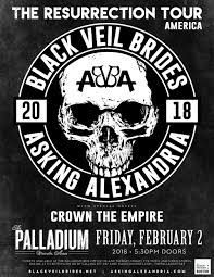 black veil the palladium black veil brides asking alexandria tickets