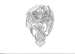 dragon cross tattoo design drawing wolfspirit1995 2017 may 1