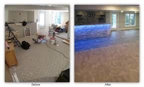 tammy s basement bar renovation luxury vinyl carpet
