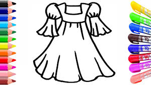 dress coloring page learn colors for kids youtube