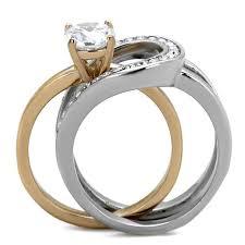 interlocking engagement ring wedding band intertwined wedding rings spininc rings