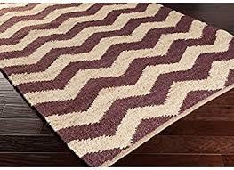 Chevron Print Area Rug Amazon Com Beautiful Purple Had Woven Chevron Pattern Area Rug 4