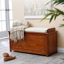 home styles arts u0026 crafts upholstered storage bench hayneedle