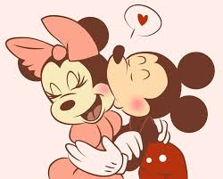 mickey mouse minnie mouse kiss love mickey minnie mouse