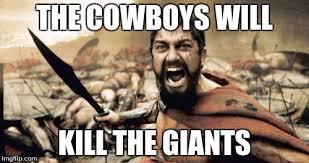 Giants Cowboys Meme - sparta leonidas meme imgflip