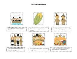 the thanksgiving pictures and sentence sequence freebie tpt