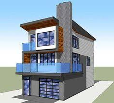 Contemporary Homes Designs Front View Showing Depth Of The House The Roof Form And Use Of
