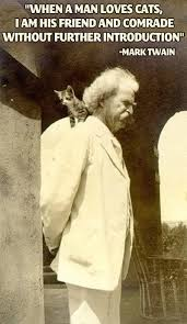 Mark Twain Memes - mark twain prefers cats meme guy