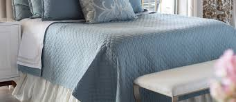 Blue Quilted Coverlet Emily Silver Blue Outlet Quilted Coverlets Lili Alessandra