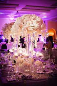lighted centerpieces for wedding reception the reception space was transformed into a purple dream punctuated