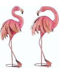 cyber monday deal on pink flamingo garden pair coastal birds metal