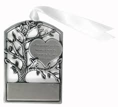 pewter memorial ornament in memory of ornament memorial
