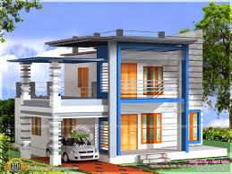 Interior Design Home Study Flat Roof House Plan And Elevation Kerala Home Design Floor Style