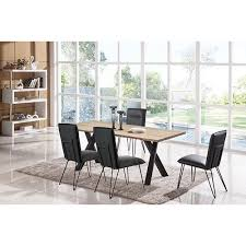 charcoal and metal 5 piece dining set contemporary live edge