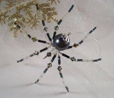 spider metallic purple and spider ornament and