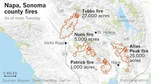Pg E Power Outage Map Death Toll From Northern California Fires Jumps To 31 Names Of 10