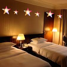 Schlafzimmer Deko Orange 2m 60led Lichterkette Sterne Vorhang Bunt Schlafzimmer Hochzeit