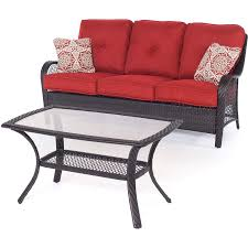 Hanover Patio Furniture Orleans 2 Piece Seating Set In Autumn Berry Orleans2pc B Bry