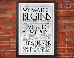 poster chambre of thrones s oath poster jon