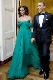 obama dresses obama green chiffon prom dress kennedy center