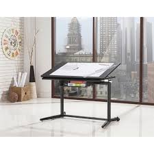 Standing Writing Desk by Coaster Height Adjustable Standing Drafting Desk In Black 800668