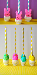 easter table favors peeps pops diy easter party favors for kids goodie bags
