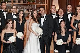wedding party attire guests family photos all black attire formal wedding party