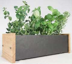 Window Sill Herb Garden by Handmade Natural Slate U0026 Solid Oak Window Box Includes Chalk U0026 3