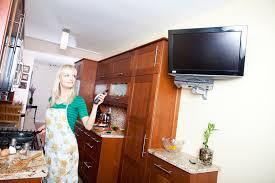 tv in kitchen ideas kitchen tv installation ideas home theater solutions