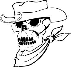 cowboy skull stencils stencilease com