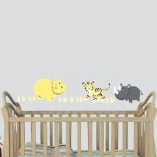 Nursery Decals For Walls by Amazon Com Hippo Wall Decal Baby Room Decor Yellow Gray Décor