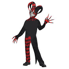 party city halloween costomes krazed jester evil clown fancy dress halloween costume mens adults