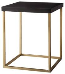 black and gold side table best square accent table threshold square accent table black and
