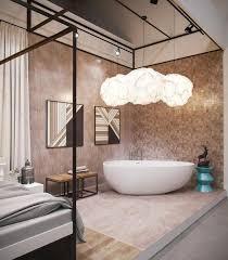 baignoire dans chambre salle de bain luxe avec baignoire design en 36 belles images