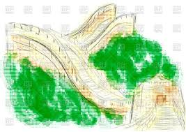 Map Of The Great Wall Of China by Drawn Wall China Pencil And In Color Drawn Wall China
