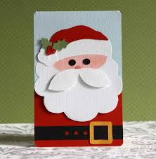 handmade santa christmas cards ne wall