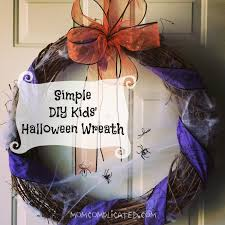 How To Make Halloween Wreaths by Simple Diy Kids U0027 Halloween Wreath Mom Complicated